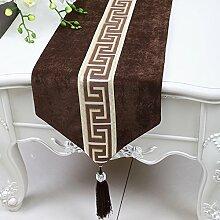Chinesischen Einfache Tischläufer/Moderne Garten Tischdecke/Tee Tischdecke-R 33x200cm(13x79inch)