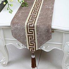 Chinesischen Einfache Tischläufer/Moderne Garten Tischdecke/Tee Tischdecke-P 33x150cm(13x59inch)