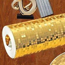 Cunguang 3D - Reine Farbe Blattgold Tapete Mosaik - Tapete 0 53 * 10 Goldene