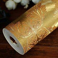 Cunguang Europäischen Stil Blattgold Tapete Familienhotel Tapete 0 52 * 10 Luxus - Gold