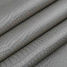 Cunguang Faux Krokodilleder Leder modernen Muster Tapete für die Wand weiß Silber Textur Glitter Vinyl Tapeten Luxus Wandbekleidungen Wp 35204 Braun Grau 5,3 qm.