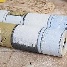 Cunguang Mediterrane Holz- blaue senkrechte Streifen Tapete für Wände 3d Wall Paper Roll, 151802,5.3 m²