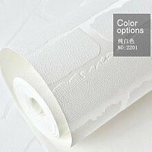 Cunguang Moderne Schlichtheit weißen Stein Tapete für Wände im Tv Hintergrund Mauer Papierrollen 0,53 m * 10 m2 5,3 qm.