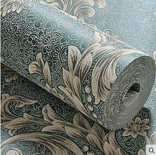 Cunguang Vinyl Verdickung weißen Stein Tapete für Wände im Tv Hintergrund Mauer Papierrollen ,828205 Grün, 5,3 m²
