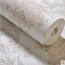 Cunguang Vinyl Verdickung weißen Stein Tapete für Wände im Tv Hintergrund Mauer Papierrollen ,828202 White, 5,3 m²