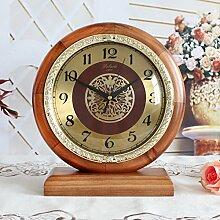 Damjic Europäische Diamond Fashion Modernes Schlafzimmer Minimalistischer Garten Mute Clock Quarzuhr E