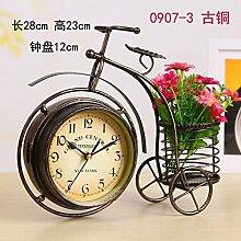 Damjic Im Europäischen Stil Schlafzimmer Wohnzimmer Clock Mute Desktop Wecker Bügeleisen Garten Ornamente H