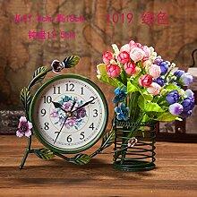Damjic Im Europäischen Stil Schlafzimmer Wohnzimmer Clock Mute Desktop Wecker Bügeleisen Garten Schmuck R