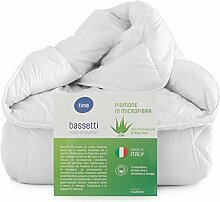 Daunenjacke leicht * Bassetti das Mikrofaser Bettdecke mit Aloe Vera Bett Einzelbett cm 155x 200