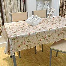 Der Stil Der Garten Tischdecke,Kaffee Tuch Handtuch Mit Handtuch,Staubabdeckung Außenhandel Frische Tischmatte Quadratisches Tischtuch-F 140x140cm(55x55inch)