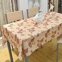 Der Stil Der Garten Tischdecke,Kaffee Tuch Handtuch Mit Handtuch,Staubabdeckung Außenhandel Frische Tischmatte Quadratisches Tischtuch-E 140x140cm(55x55inch)