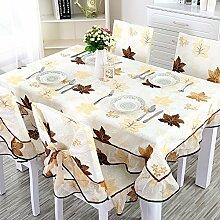 Der Stil Der Garten Tischdecke,Kaffee Tuch Handtuch Mit Handtuch,Staubabdeckung Tischmatte Quadratische Tischdecke Tischdecke-C 130*180cm(51x71inch)