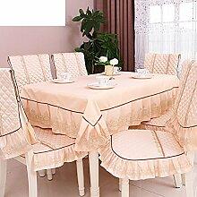 Der Stil Der Garten Tischdecke,Kissen Und Bezüge Für Die Stühle,European Tea Tisch Cloth Tischtuch-J 130*180cm(51x71inch)