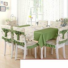 Der Stil Der Garten Tischdecke,Kissen Und Bezüge Für Die Stühle,Einfache Moderne Couchtisch Tischdecke-A 150x150cm(59x59inch)