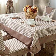 Der Stil Der Garten Tischdecke,Kissen Und Bezüge Für Die Stühle,Stoff-tischdecke,Gitter Tischdecke Staub Tuch-B 130*180cm(51x71inch)