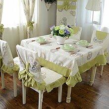 Der Stil Der Garten Tischdecke,Kissen Und Bezüge Für Die Stühle,Stoff-tischdecke,Gitter Tischdecke Staub Tuch-C 110x110cm(43x43inch)
