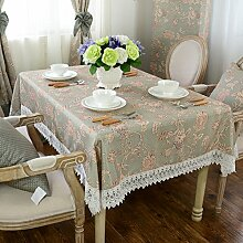 Der Stil Der Garten Tischdecke,Kissen Und Bezüge Für Die Stühle,Tischdecke Couchtisch Tuch Gitter Tischdecke,Staubtuch-G 140x200cm(55x79inch)
