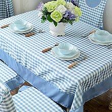 Der Stil Der Garten Tischdecke,Kissen Und Bezüge Für Die Stühle,Stoff-tischdecke,Gitter Tischdecke Staub Tuch-A 110x160cm(43x63inch)
