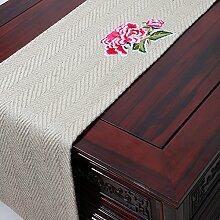 Der Stil Der Garten Tischläufer/Stil Klassische Tischdecke-H 33x300cm(13x118inch)