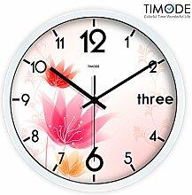 DIDADI Wall Clock Das Wohnzimmer kunst Quarzuhr stilvollen Garten Blumen 12 Zoll Uhren Stummschaltung