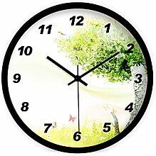 DIDADI Wall Clock Die frischen kreativen Traum Garten stilvolle moderne Wohnzimmer mute Wall Clock Clock Quarzuhr 12 Zoll