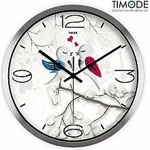 DIDADI Wall Clock Die Stummschaltung Wanduhr Garten Kinderzimmer Wanduhr Schlafzimmer trendy kreative Birdie Wanduhr 12 Zoll