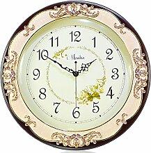 DIDADI Wall Clock Kreative Mode Kingsize Wohnzimmer Stille Quarz Uhr Garten moderne minimalistische Wanduhr