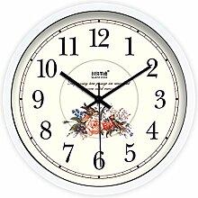 DIDADI Wall Clock kreative modernen europäischen stil garten blumenladen wanduhr quarz - uhr uhr 12 cm