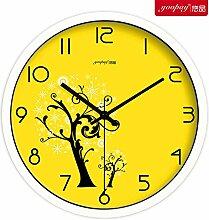 DIDADI Wall Clock kreative persönlichkeit mode europäischen garten quarz - uhr - halle wanduhr uhr einfach große wanduhr 12 cm