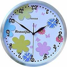 DIDADI Wall Clock Stilvolle mute Wanduhr Quarzuhr garten Wanduhr Kinder Sun Motor 12 Zoll Wohnzimmer Wanduhr