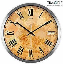 """DIDADI Wall Clock Wanduhr Zeichnung europäische klassische Kunst Quarzuhr antike Blume Garten 12 Uhr stumm"""""""
