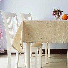 Einfache Und Moderne Künstlerische Couchtisch Tischdecke/Kunst Garten Baumwolle Tischdecke-B 140x180cm(55x71inch)
