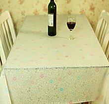 Europ?ische Garten Tischdecke/ Wasser und ?l Beweis Einweg Tischdecken/ Kunststoff Tischdecke/Tischsets/WeichePVCMatte-C 137x180cm(54x71inch)
