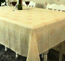 Europ?ische Garten Tischdecke/ Wasser und ?l Beweis Einweg Tischdecken/ Kunststoff Tischdecke/Tischsets/WeichePVCMatte-F 137x100cm(54x39inch)