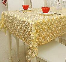 Europ?ische Garten Tischdecke/ Wasser und ?l Beweis Einweg Tischdecken/ Kunststoff Tischdecke/Tischsets/WeichePVCMatte-H 137x180cm(54x71inch)