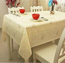 Europ?ische Garten Tischdecke/ Wasser und ?l Beweis Einweg Tischdecken/ Kunststoff Tischdecke/Tischsets/WeichePVCMatte-E 137x160cm(54x63inch)