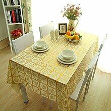 Europ?ische Garten Tischdecke/ Wasser und ?l Beweis Einweg Tischdecken/ Kunststoff Tischdecke/Tischsets/WeichePVCMatte-J 137x220cm(54x87inch)