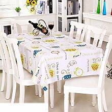 Europäische Garten Tischdecke/Einweg-Kunststoff-Folien für die Imprägnierung/Tischdecken/PVCTischdecke decke/ Öl-Mat-M 137x220cm(54x87inch)