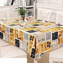 Europäische Garten Tischdecke/Einweg-Kunststoff-Folien für die Imprägnierung/Tischdecken/PVCTischdecke decke/ Öl-Mat-B 137x190cm(54x75inch)