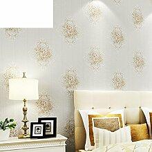 Europäische Garten Wallpaper/Warme Schlafzimmer Wohnzimmer Esszimmer Tapeten/Vliestapete-B