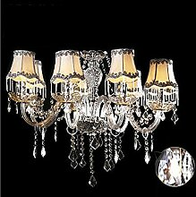 Europäische - Stil Kristall-Kronleuchter Wohnzimmer Schlafzimmer Kristall-Kronleuchter Restaurant Jane Ou Garten-Art Atmosphärische Dekorative Kristall-Lampen ( farbe : A )