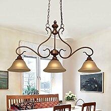 Frelt Kronleuchter Europäische Wohnzimmer Kronleuchter Eisen Harz Garten Restaurant Jane Europäische Glas Antik Kupfer Lampen