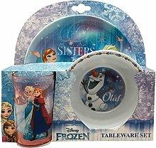 Frozen Kinder Geschirr-Set, 3-teilig (Einheitsgröße) (Bunt)