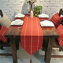 Garten Fahnen der modernen chinesischen Stil Schreibtisch/Bett Renner/Tischdecke decke/Abdeckung Tuch/Zierleiste/ Tisch/Tischdecke decke/ Tisch-A 33x180cm(13x71inch)