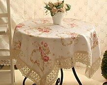 Garten Herzförmig Baumwollrand Tischdecken Tischdecken Tischdecken Handtücher Decken ,140*140cm