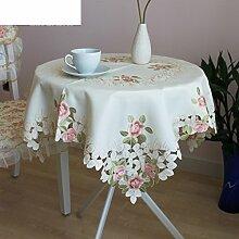 Garten Tischdecke Stoff Tischdecke,Mahlzeit Mit Servietten Tischdecke Bedeckt,Durchbrochene Stickerei Tischdecke-A 145x215cm(57x85inch)
