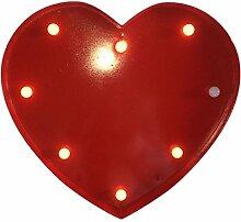 Gazechimp 3V 40W Rot Alphabet LED Licht Leuchten Gartenleuchte Hochzeit Weihnachten Garten Partei Bar Deko - Herz