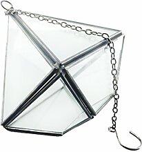 Gazechimp Hängen Rautenförmige Glas Terrarium Miniatur Hängeampel Garten Topf Dekor