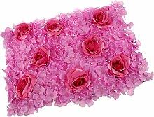 Gazechimp Künstliche Blumen Säule Kunstblumen, Wand Schaufenster Garten Deko - Lila