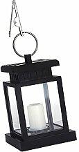 Gazechimp LED Solar-Laterne mit Kerzen-Flackerlicht Solarleuchte Dekolampe